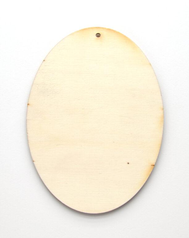 Výřez dřevěný Ovál, 15cm /10088/