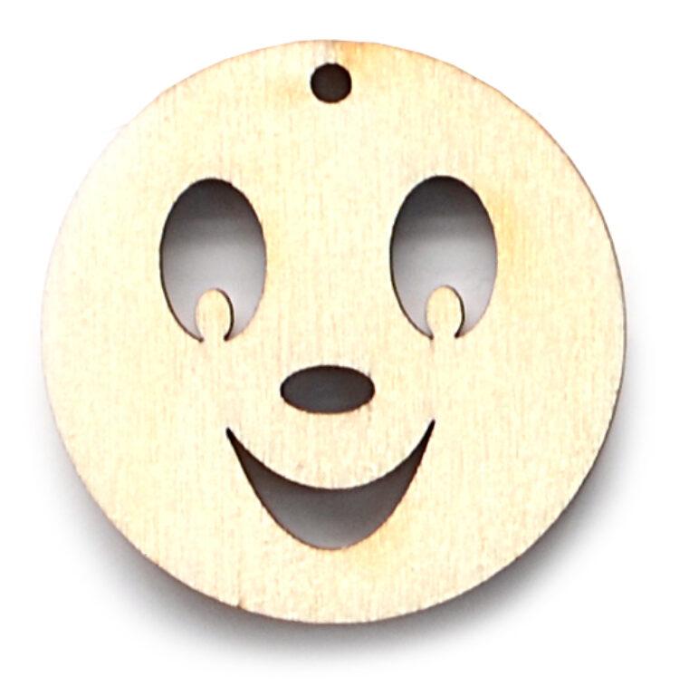 Výřez dřevěný Smajlík - úsměv /10127/