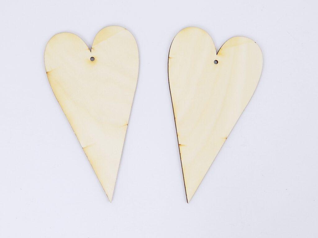 Výřez dřevěný Srdce /10199/