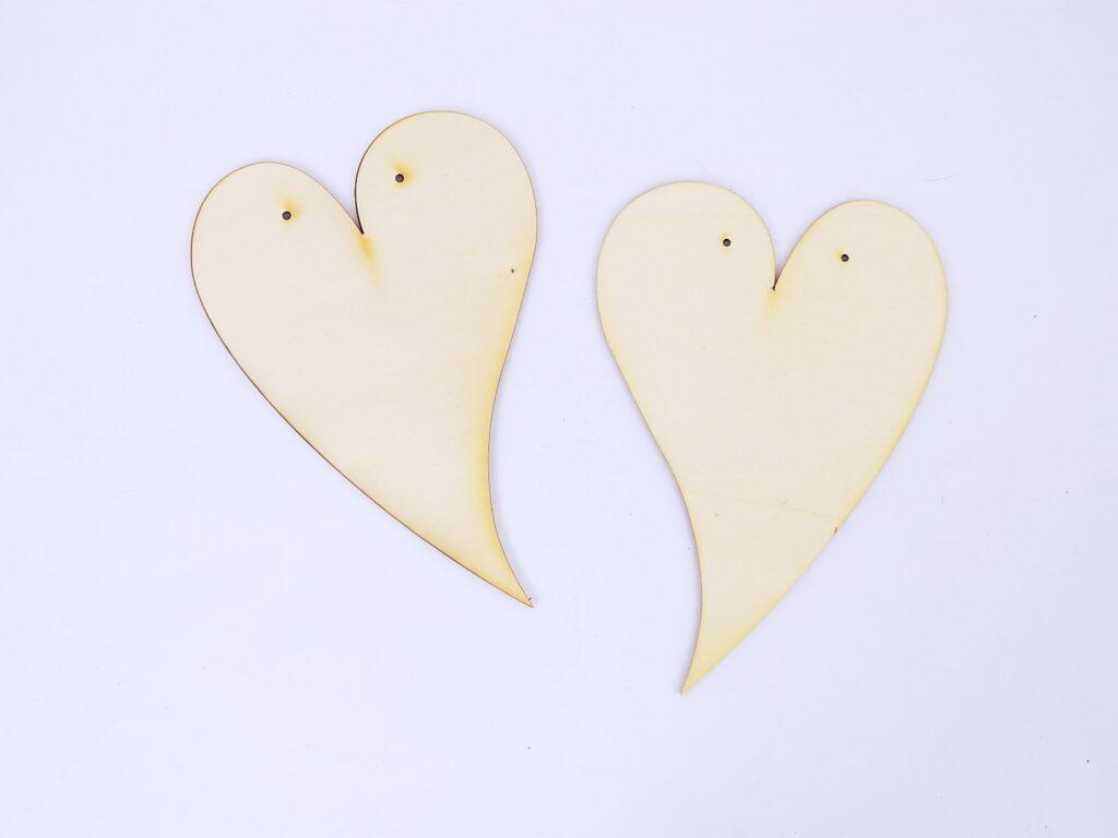 Výřez dřevěný Srdce velké - 20cm /10072/