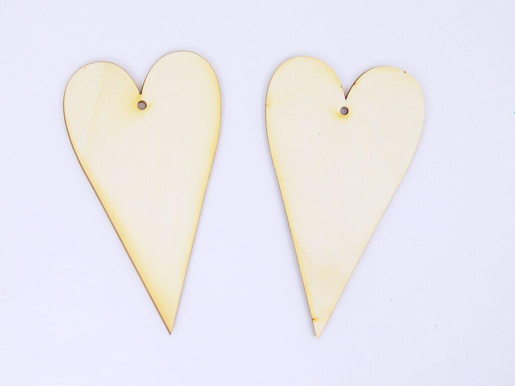 Výřez dřevěný Srdce 8x14cm /10081/