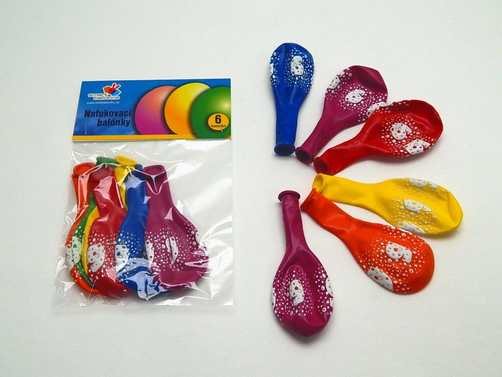 Balónek naf. PGS110 6 s číslem 6