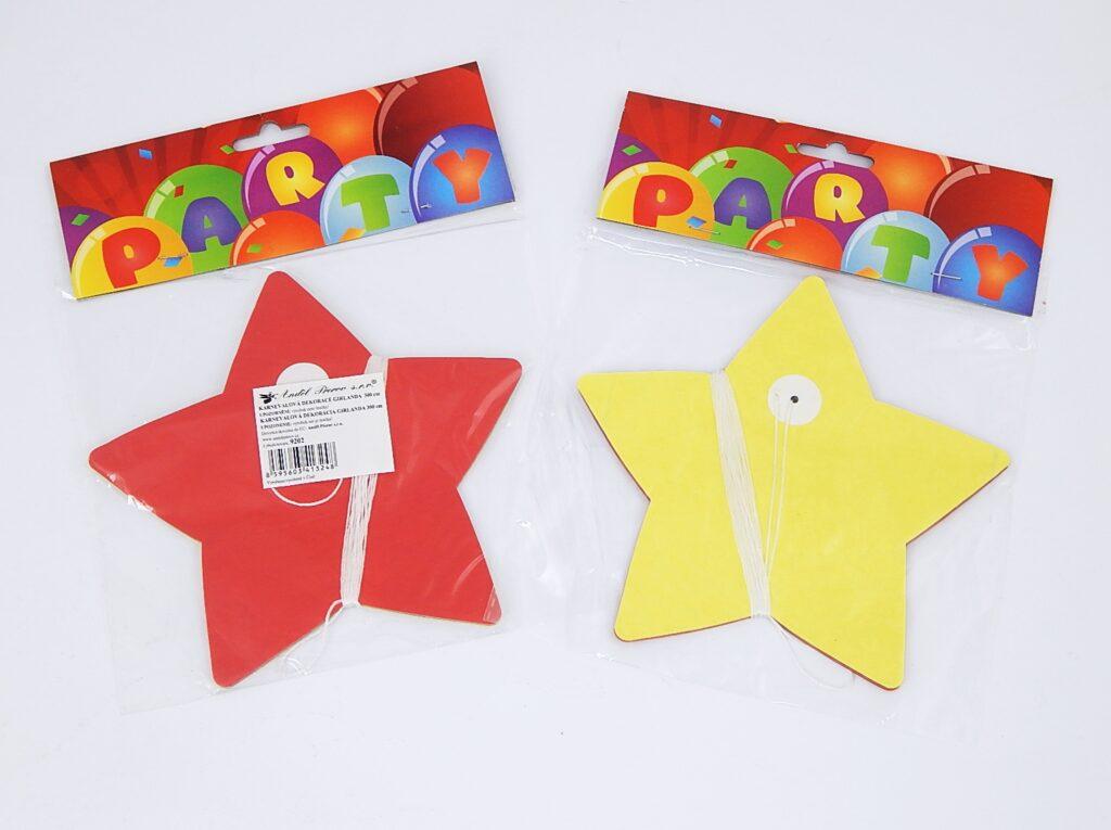 Girlanda papírová Hvězdy 300x17cm /9202/