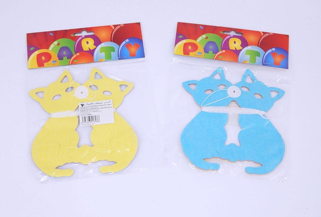 Girlanda papírová Kočky 300x17cm /9206/