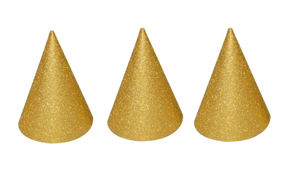 Kloboučky zlaté 6ks Party /818433/
