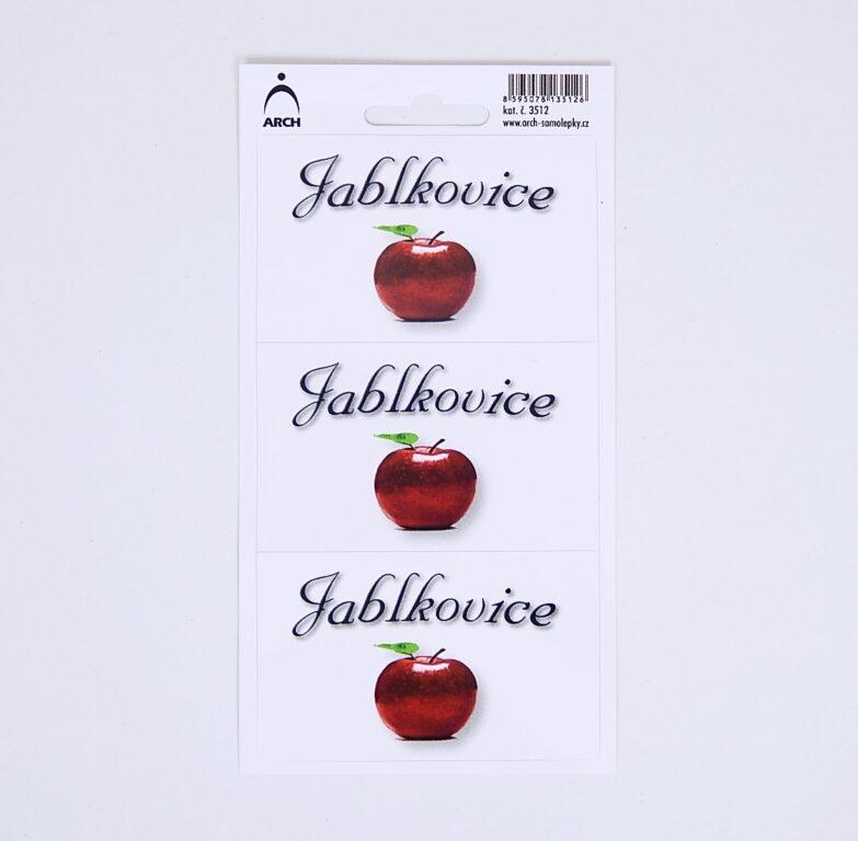 Samolepky  DOMÁCÍ PÁLENKY- jablkovice - 3 etikety 3512