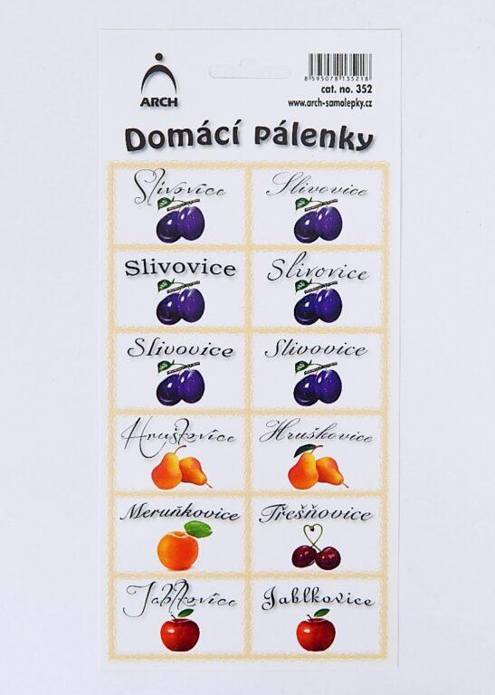 Samolepky Domácí pálenky /352/