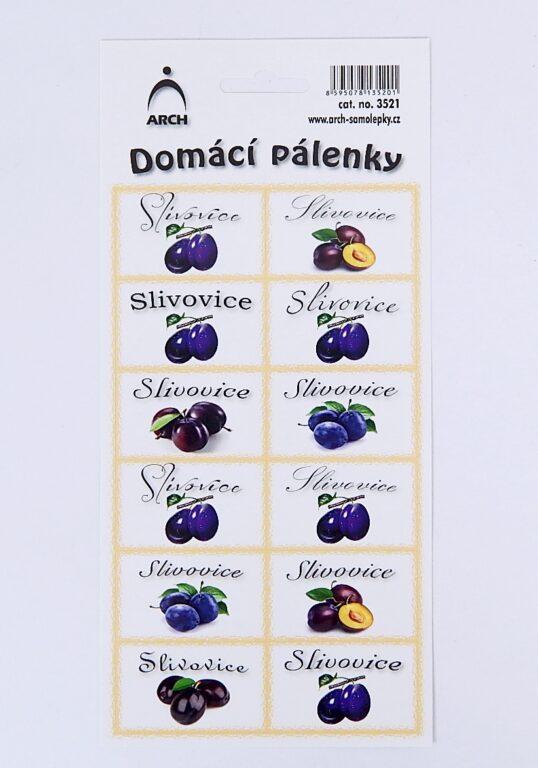 Samolepky Dámácí pálenky /3521/