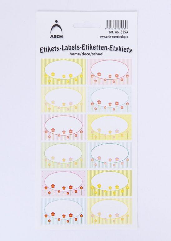 Samolepky dekorační - jarní louka /3553/
