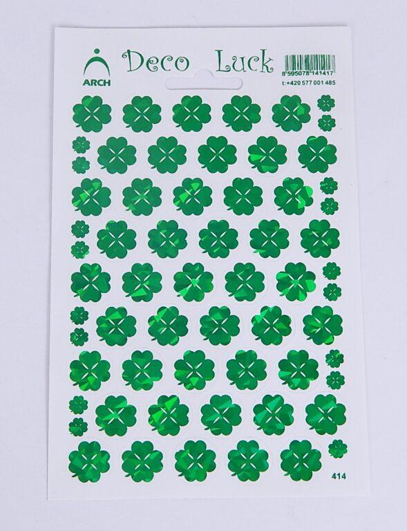 Samolepky Čtyřlístky - deco luck /414/
