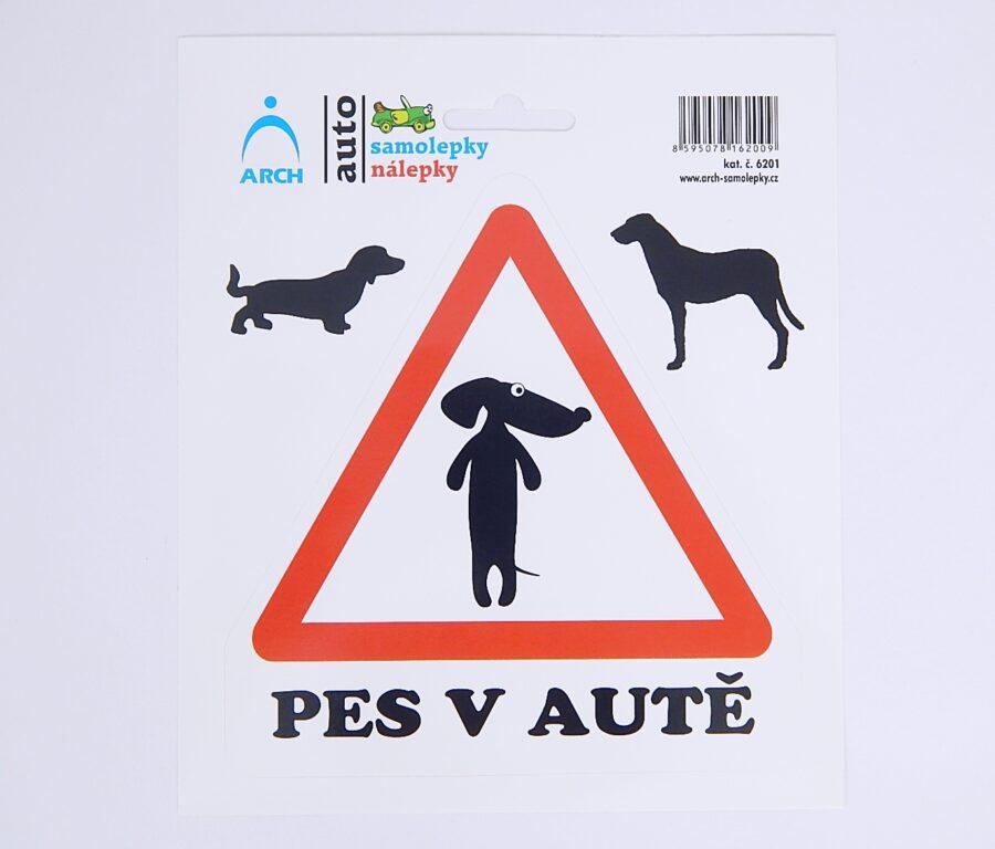 """Samolepky """"Pes v autě"""" /6201/"""
