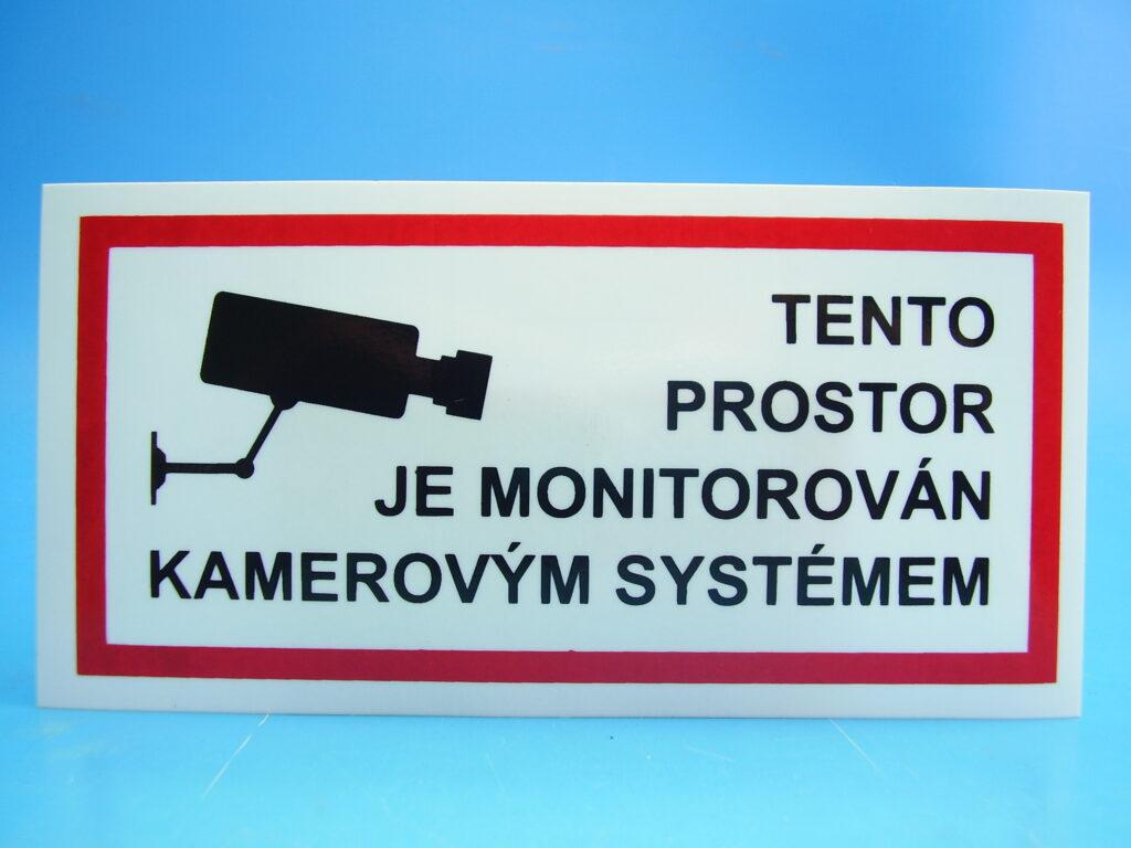 """Samolepka 651 """" Kamerový systém"""""""