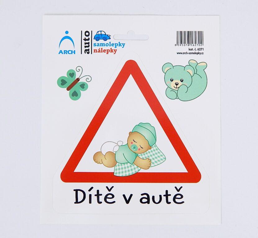 """Samolepka """"Dítě v autě"""" batole chlapeček /6271/"""