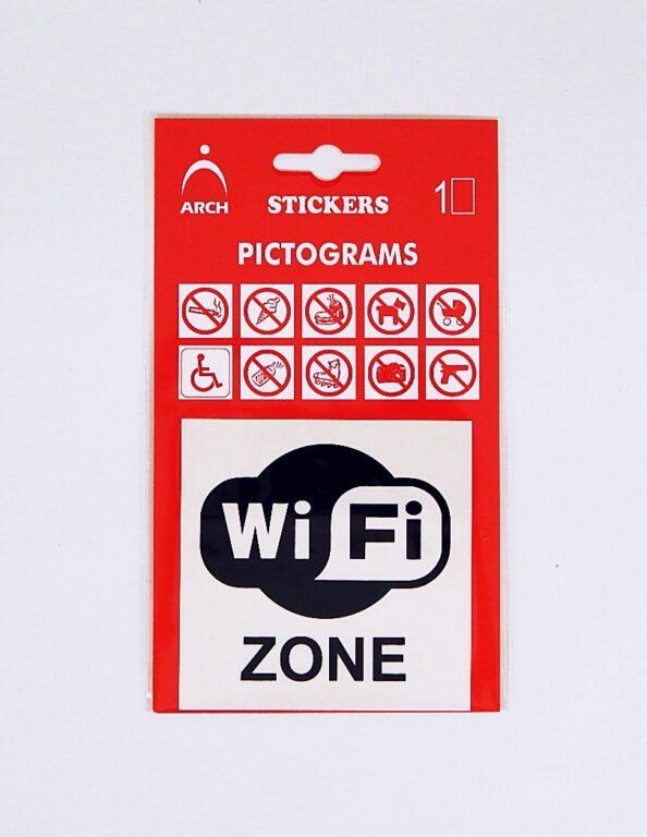 Samolepka Wi-Fi ZONE 655