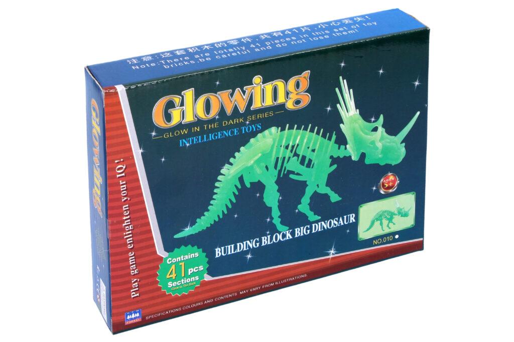 Puzzle 3D dinosaurus svítící ve tmě / 889603