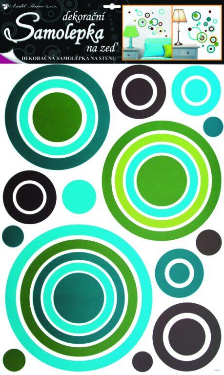 Samolepky pokoj. dekorace kruhy modré 70x42cm /1058/