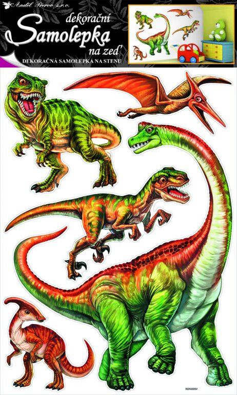 Samolepky pokoj. dekorace dinosauři 70x42cm /10036/