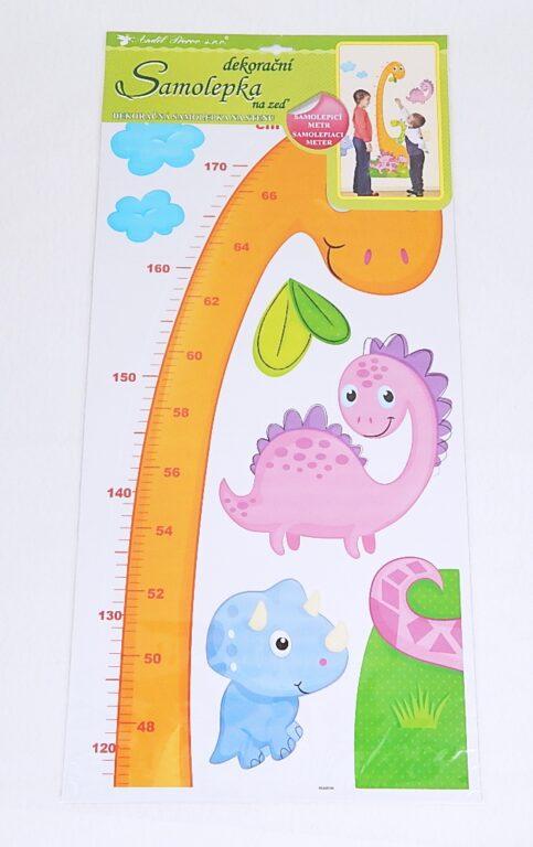 Samolepky pokoj. dekorace děts.metr Dinosaurus 120x32cm /10181/