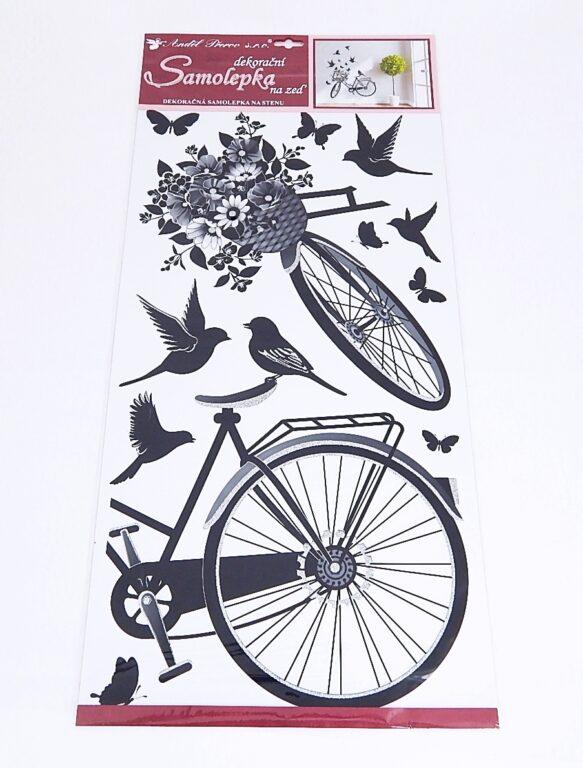Samolepky pokoj. dekorace Kolo s květinou /10187/