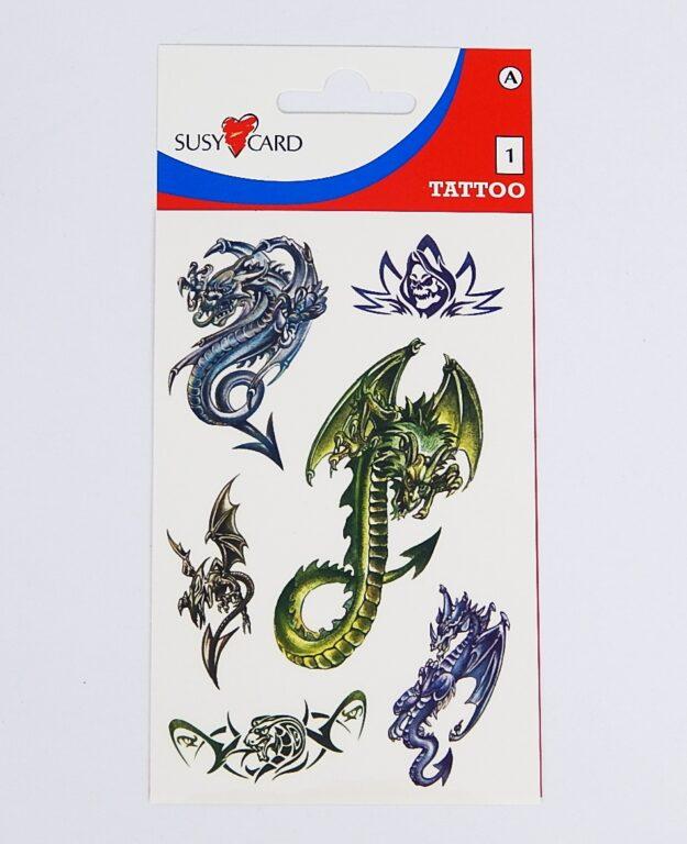 Samolepky tetovací Draci /11258837/