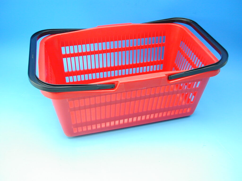 Košík nákupní 10kg červený