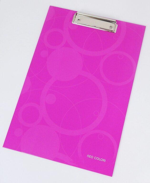 Deska A4 jednoduchá lamino NEO COLORI růžová /2-963/