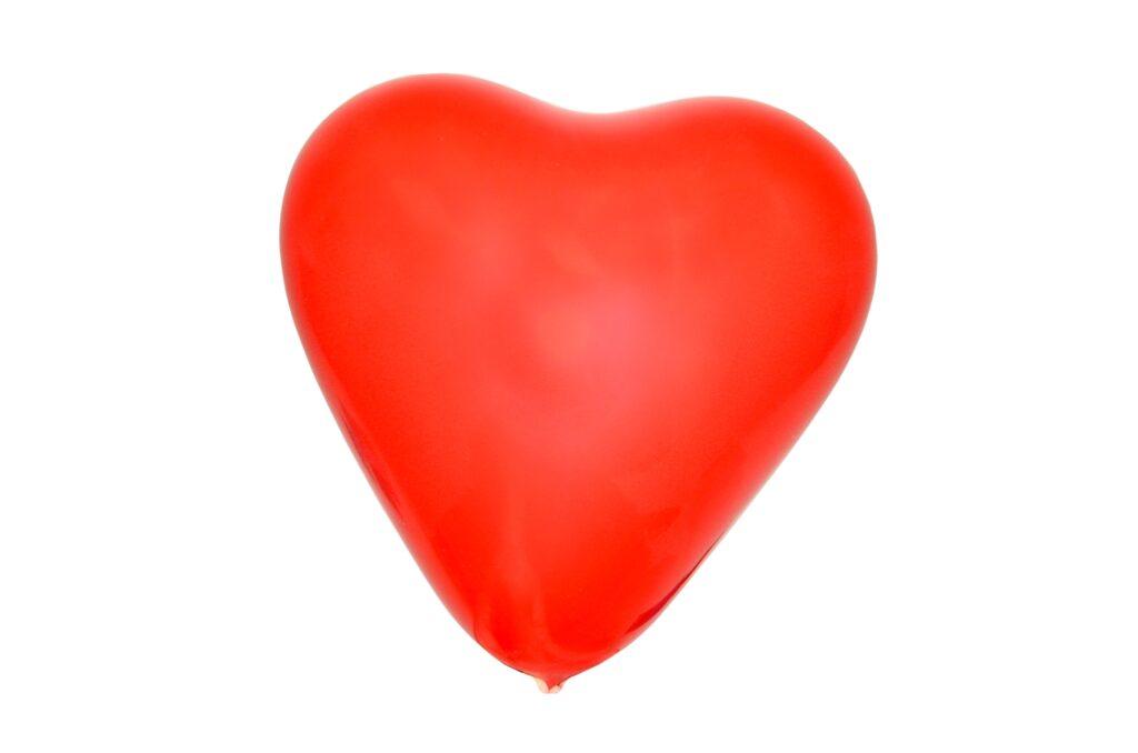 Balonek nafukovací - Srdce / 10 ks / 886113