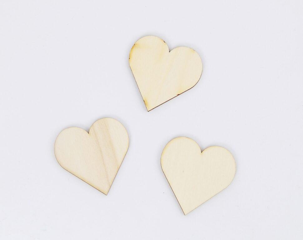 Výřez dřevěný srdce klasik 5cm/ 10233