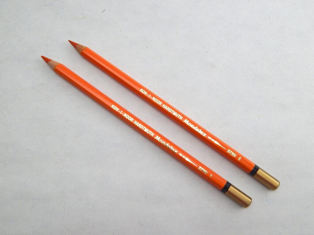 Pastelka 3720/05 oranžová akvarelová