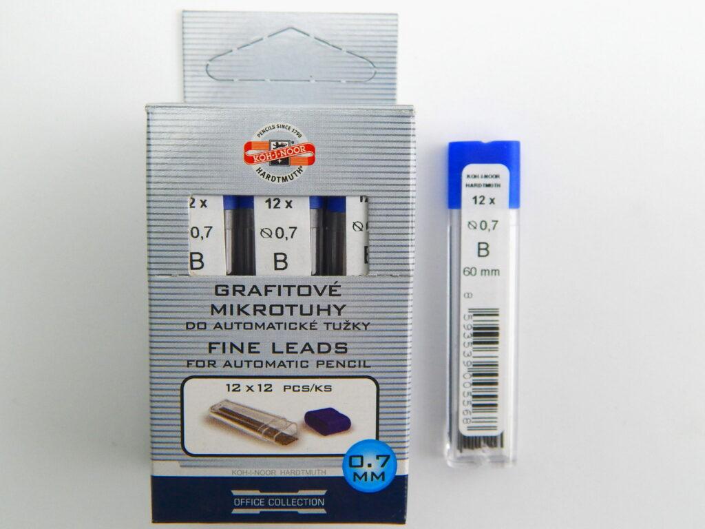 Tuhy 4162 B pr.0,7mm grafitové