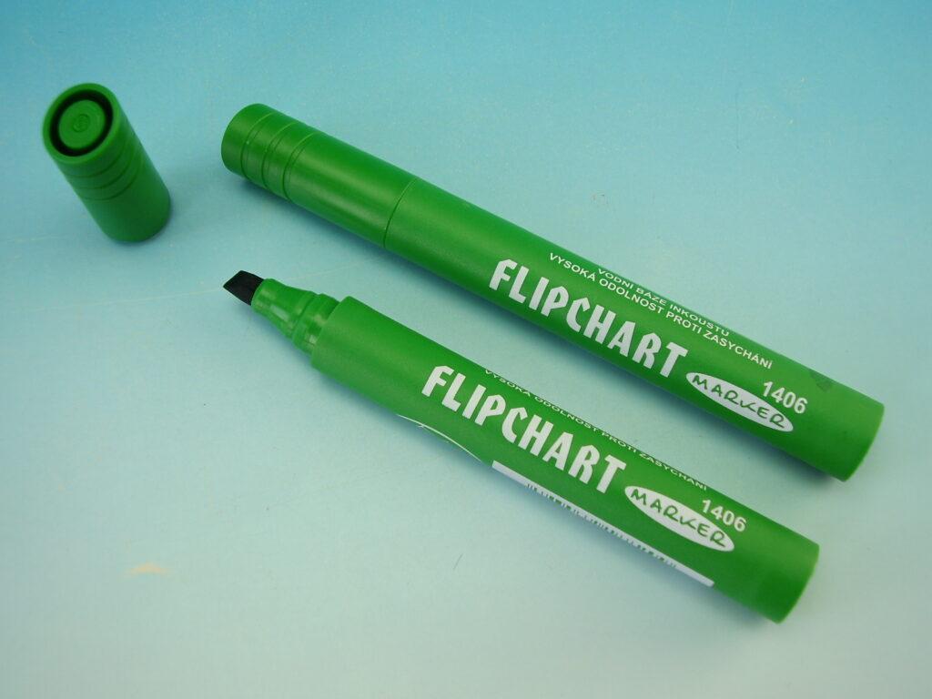 popisovač flipchart zelený 1406