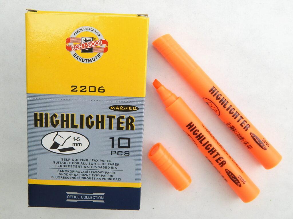 zvýrazňovač oranžový 2206