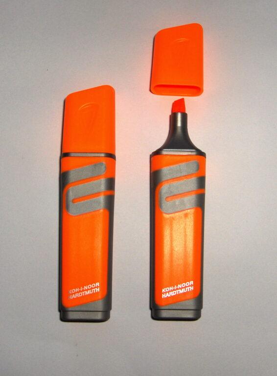 zvýrazňovač 2226 plochý oranžový