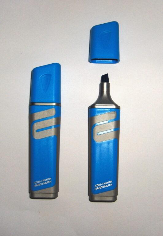 zvýrazňovač 2226 plochý modrý