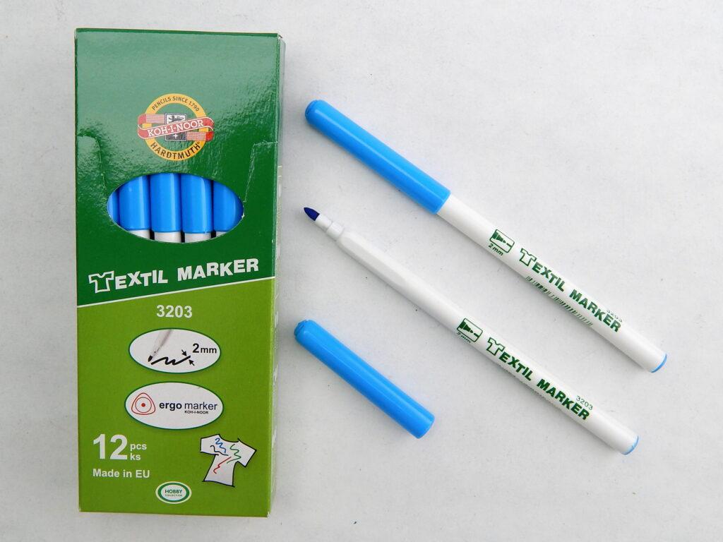 značkovač na textil 3203 modrý