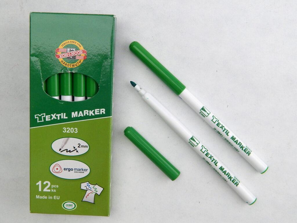 značkovač na textil 3203 zelený