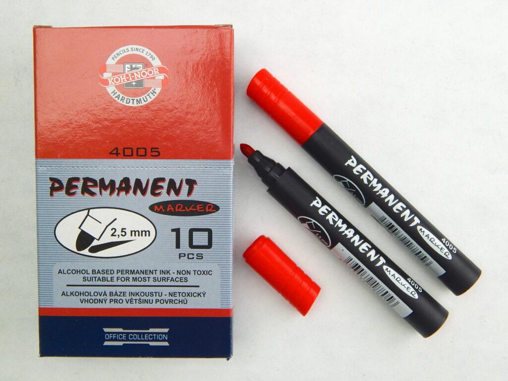 popisovač permanent 4005 červený