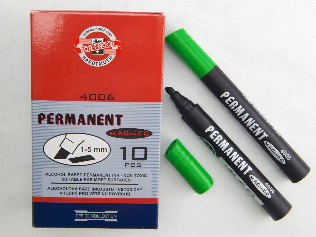 popisovač permanent 4006 zelený