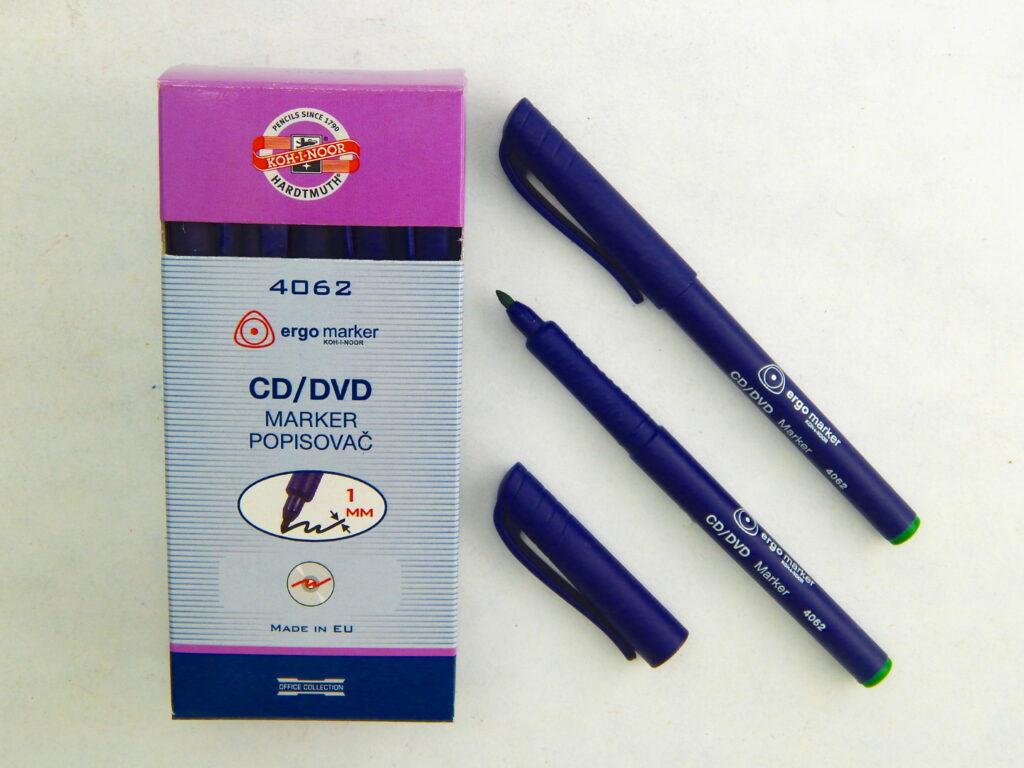 popisovač permanentní 4062 zelený CD/DVD