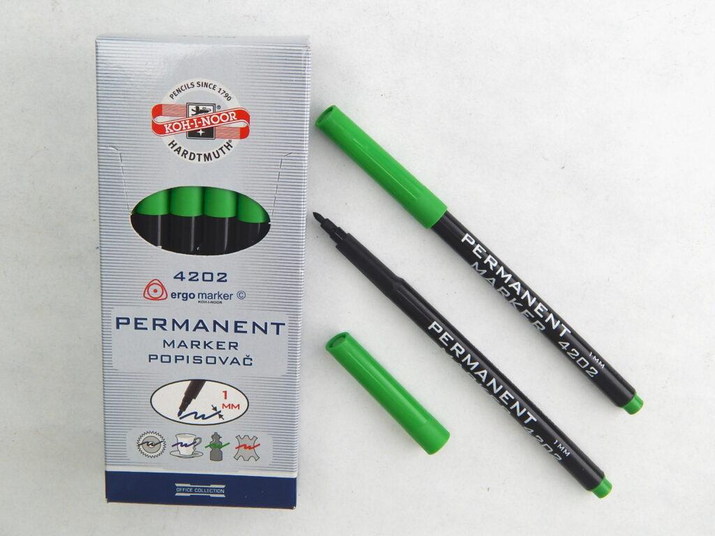 popisovač permanentní 4202 zelený trojhranný