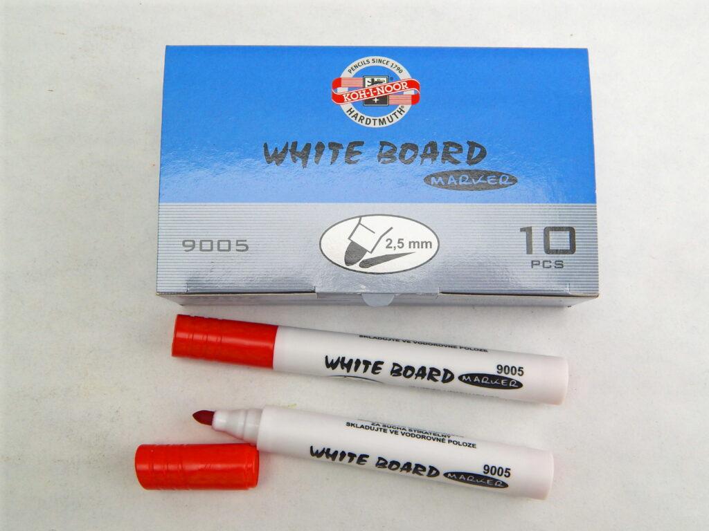 popisovač white board 9005 červený