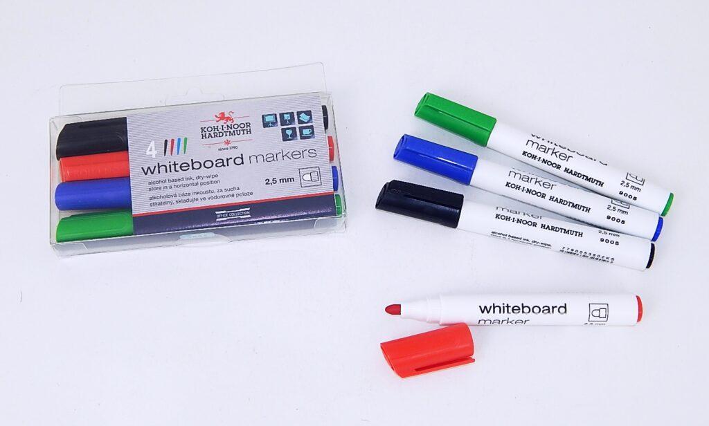 souprava značkovačů White Board 9005 4 kulatý