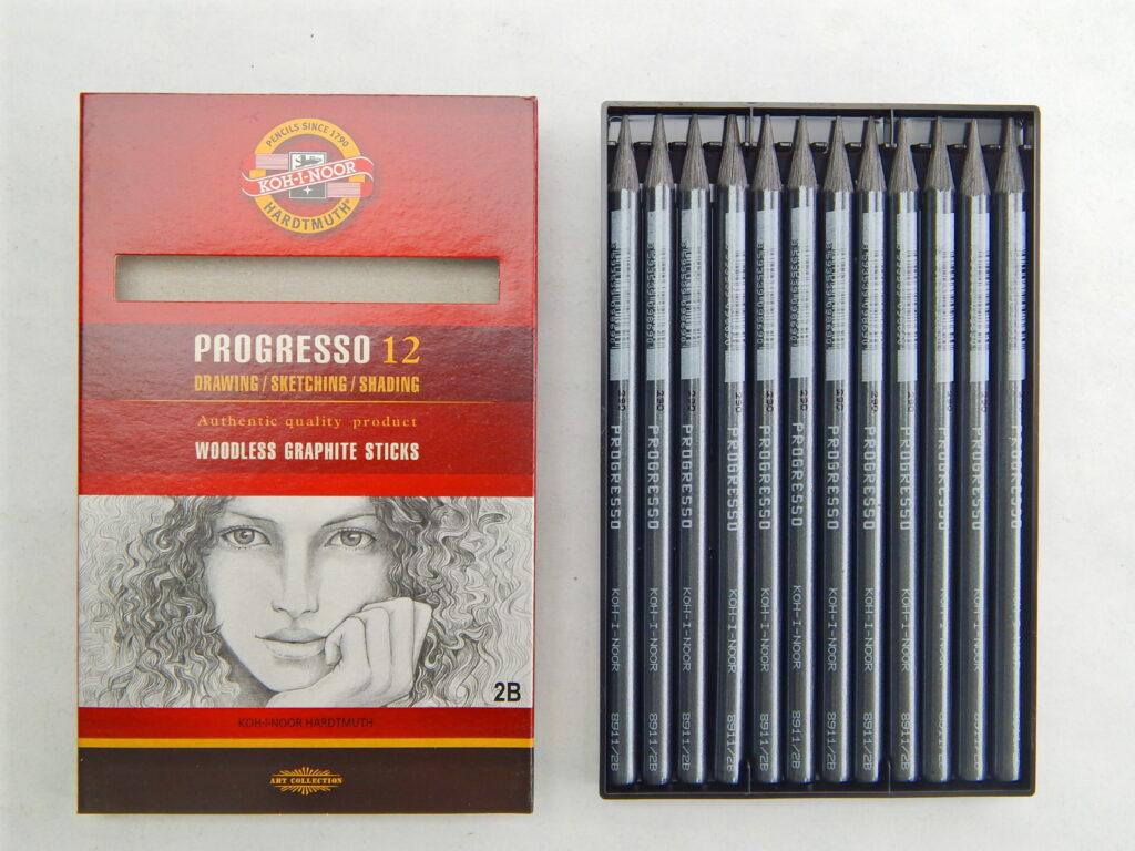 Tužka 8911 2B grafitová v laku PROGRESSO
