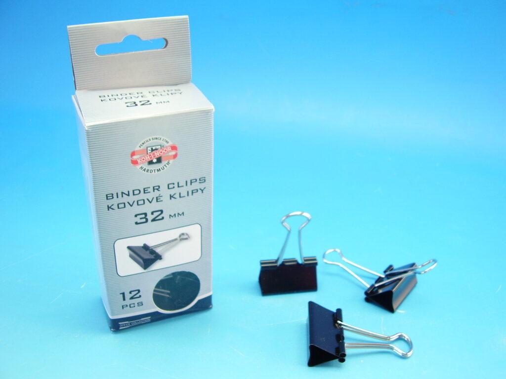 klipy kovové 32 mm