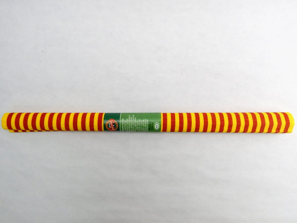 Papír krepový 9755/66 červenožluté pruhy