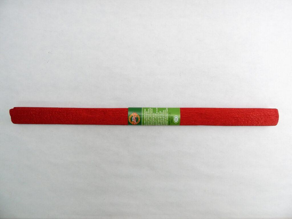 Papír krepový 9755/80 metalizovaný červený