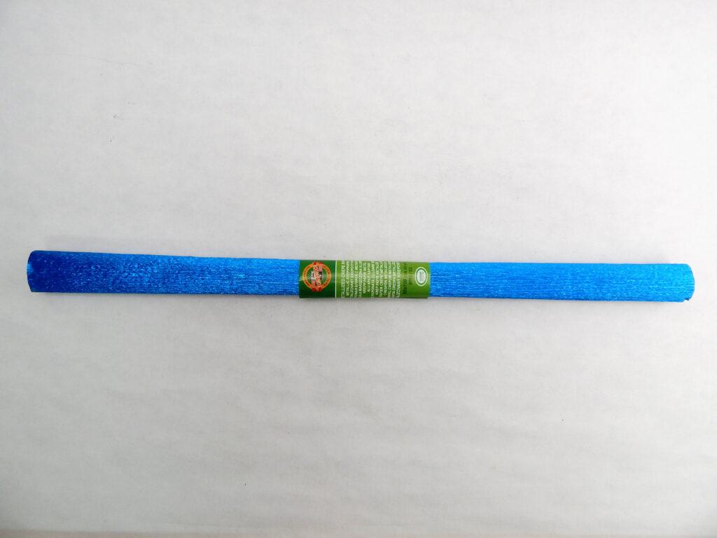 Papír krepový 9755/82 metalizovaný modrý