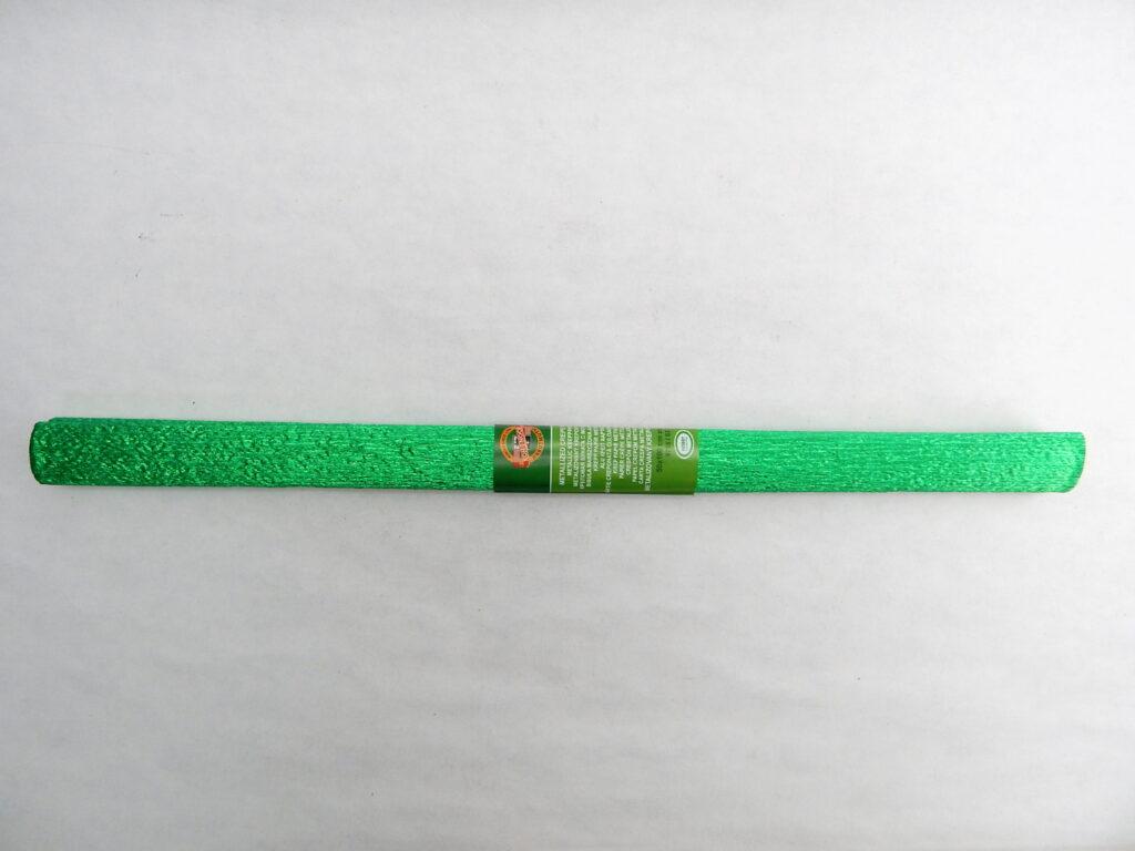 Papír krepový 9755/83 metalizovaný zelený