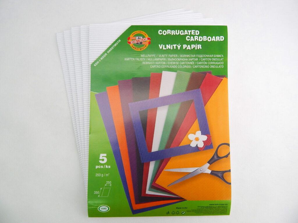 Vlnitý papír 9758 – bílý 700