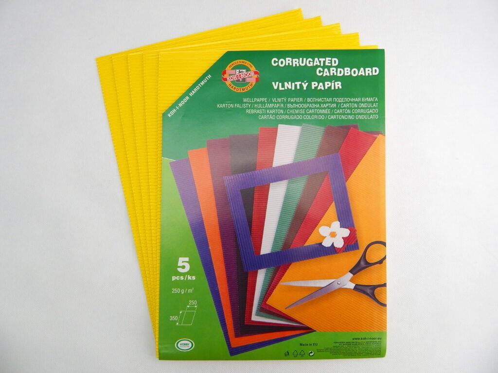 Vlnitý papír 9758 - citrónově žlutý  706